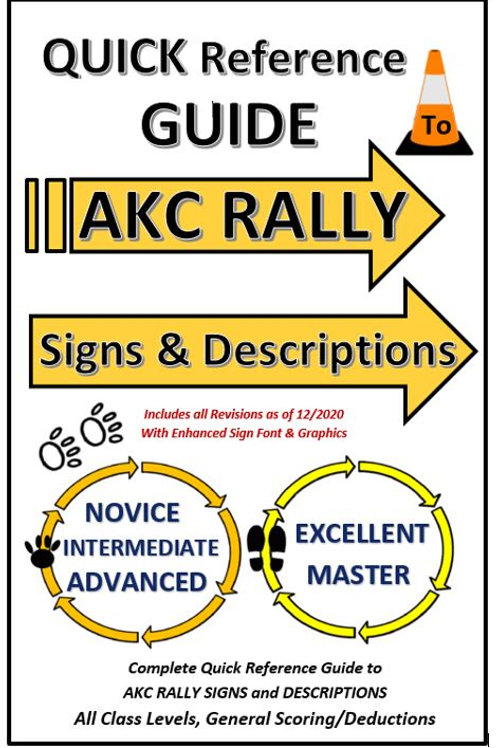Lot of 5 QUICK REFERENCE GUIDES to AKC RALLY