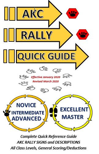 Lot of 5 AKC QUICK REFERENCE RALLY GUIDES Revised March 2020