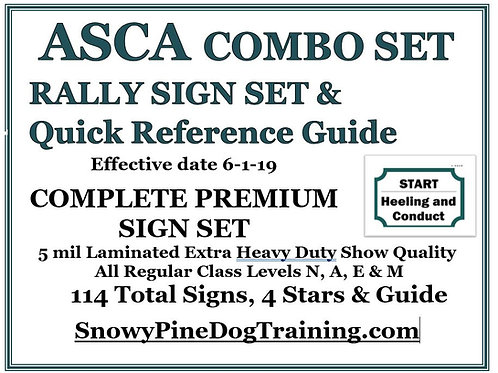 ASCA COMBO SET-RALLY COMPLETE PREMIUM SIGN SET & GUIDE