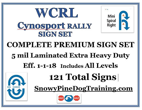 WCRL/CYNOSPORT RALLY COMPLETE PREMIUM SIGN SET