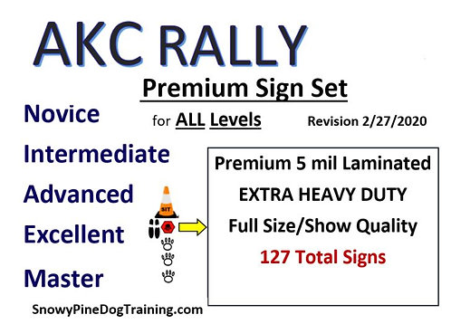 AKC RALLY COMPLETE SIGN SET-Extra Heavy/Laminated