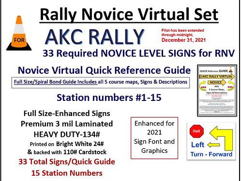 AKC RALLY NOVICE VIRTUAL SET-RNV