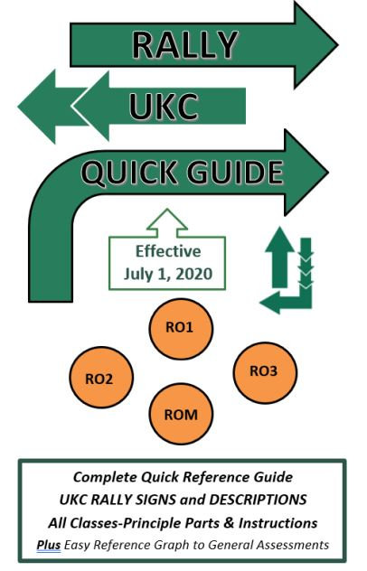 """UKC """"NEW"""" RALLY QUICK GUIDE eff. July 1, 2020"""