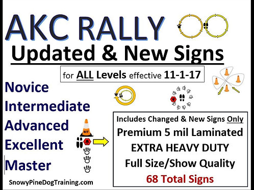 AKC RALLY UPDATE SIGN SET