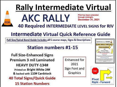 AKC RALLY INTERMEDIATE VIRTUAL SET-RIV