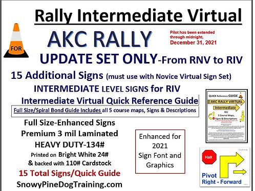 AKC RALLY INTERMEDIATE VIRTUAL UPDATE SET-RIV