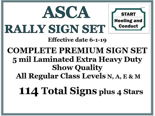ASCA RALLY COMPLETE PREMIUM SIGN SET