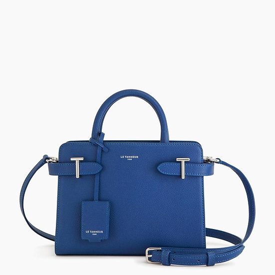 Petit sac à main Le Tanneur en cuir grainé bleu