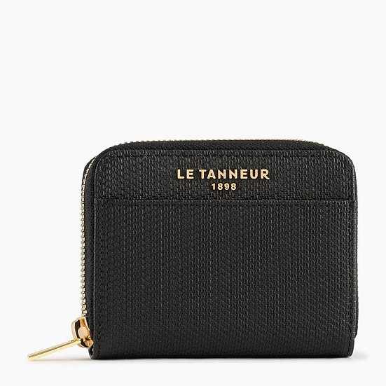 Porte monnaie zippé Le Tanneur Lise en cuir monogramme noir