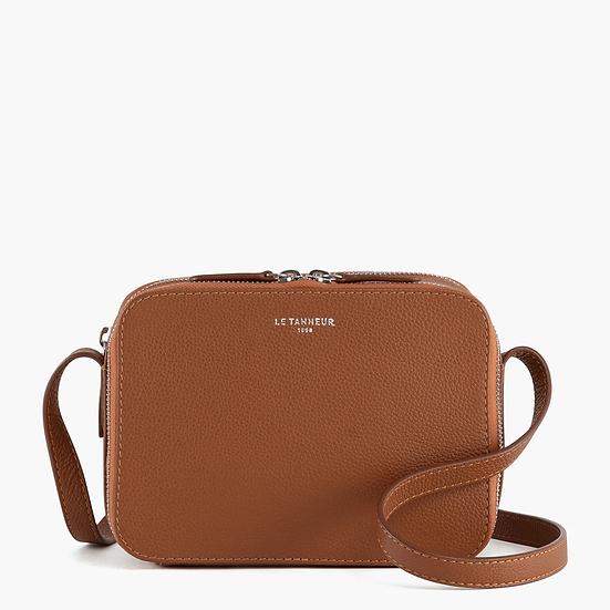 Petit sac bandoulière Le Tanneur Sophie en cuir grainé marron