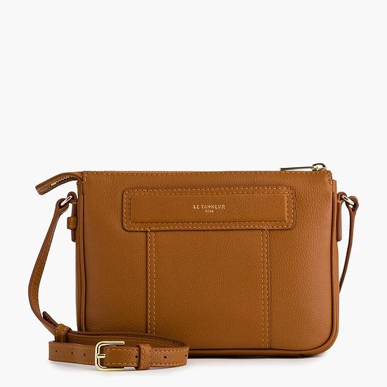 Petit sac bandoulière Le Tanneur Judith en cuir grainé marron