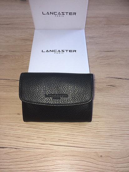Porte monnaie Lancaster noir cuir vachette pleine fleur