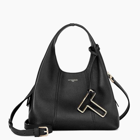Petit sac à main Le Tanneur Juliette en cuir grainé noir