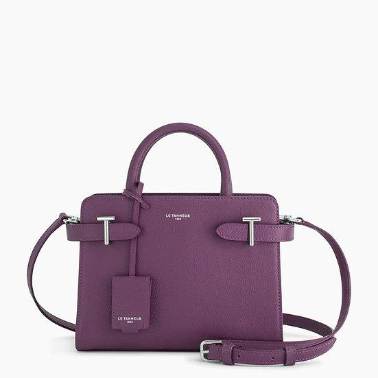 Petit sac à main Le Tanneur en cuir grainé violet