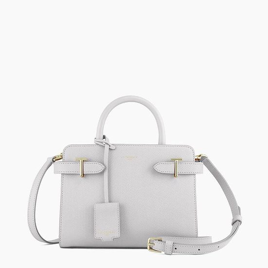 Petit sac à main Le Tanneur Emilie en cuir monogramme blanc