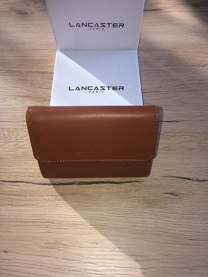 Portefeuille Lancaster cognac cuir vachette pleine fleur