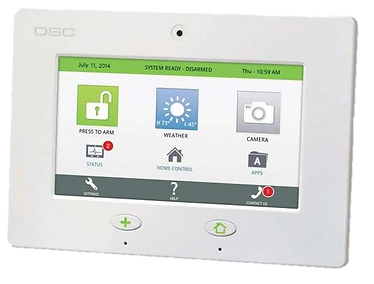 Home Alarm DSC Touch Panel