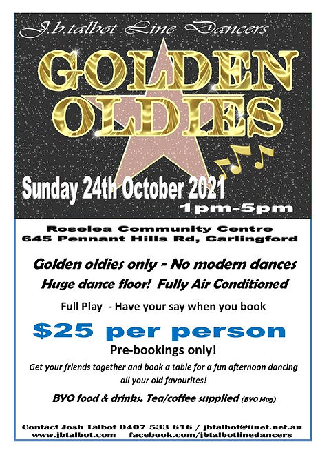 Golden Oldies 2021 single flyer and play