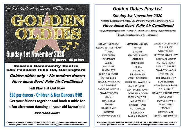 Golden Oldies 2020 single flyer and play