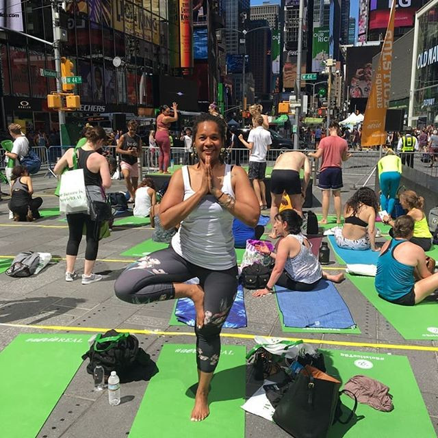 International Yoga Day, Solstic 2018, Time Sq. NY.