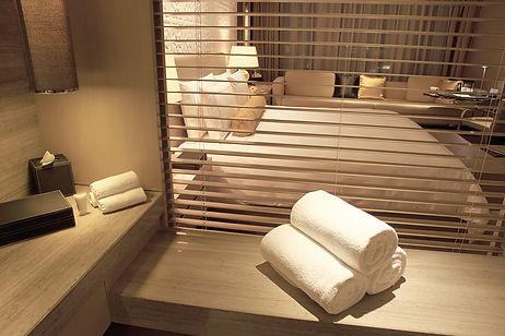 Hotel Bedroom and Bathroom