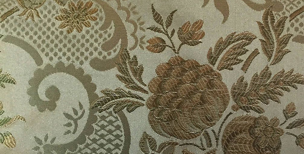 Olive Green Floral Fabric