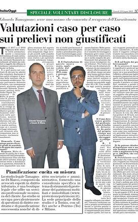 Milano Finanza, tamagnone di marco, avv tamagnone, voluntary disclosure