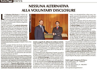 voluntary disclosure, avvocati tributaristi milano