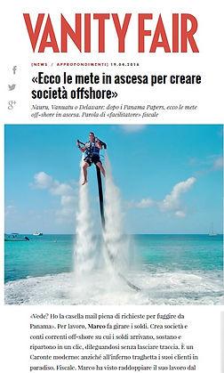 Vanity Fair Tamagnone Di Marco, costituzione società estere, panama papers