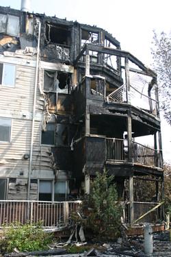 Monticello Fire damage