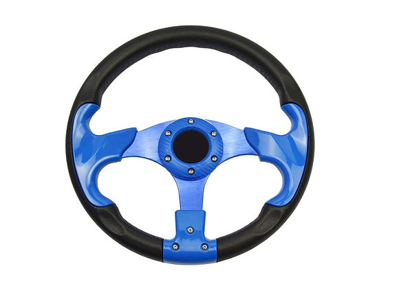 Universal PU Blue Steering Wheel 320mm Off Road / Marine / Golf Cart 8904