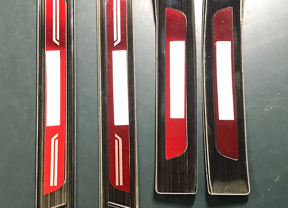 Honda Accord 2018 2019 Stainless Outer Door Sill Scuff Plate Cover Hyper Black