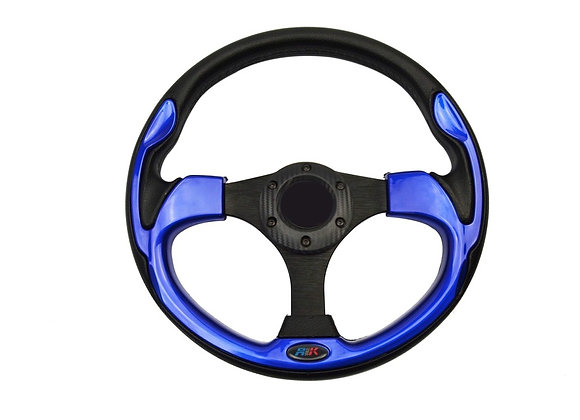 Universal PU Blue Steering Wheel 320mm Off Road / Marine / Golf Cart 8908