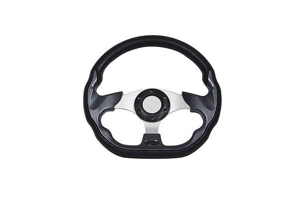 Universal PU Carbon Steering Wheel 320mm Off Road / Marine / Golf Cart 8937