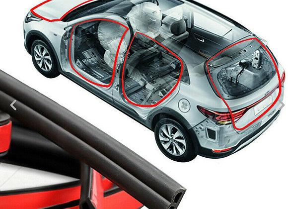 B Shape Type Car Door Edge Rubber Seal Strip Moulding Trim Weather Strip 5M/16ft