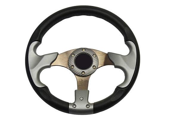 Universal PU Gray Steering Wheel 320mm Off Road / Marine / Golf Cart 8904