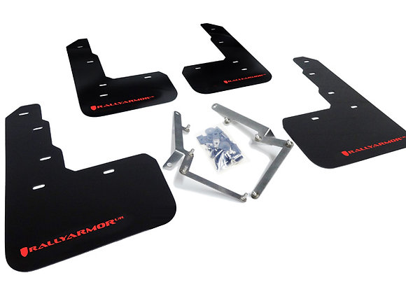 RALLY ARMOR MUD FLAP: CIVIC TYPE R 17-18 (UR BLACK W/RED LOGO)