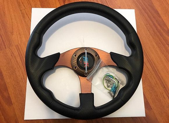 Universal PU Bronze Steering Wheel 320mm Off Road / Marine / Golf Cart 8
