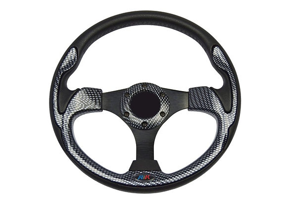 Universal PU Carbon Style Steering Wheel 320mm Off Road / Marine /Golf Cart 8908