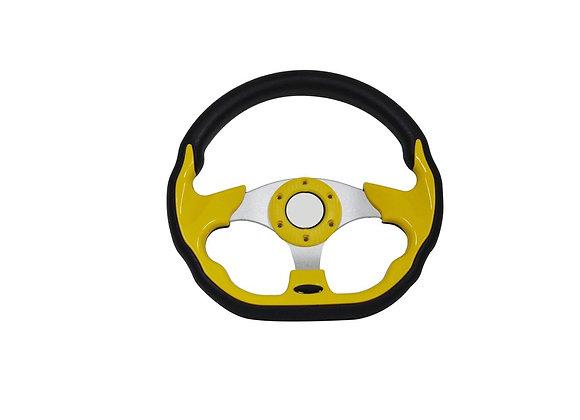 Universal PU Yellow Steering Wheel 320mm Off Road / Marine / Golf Cart 8937