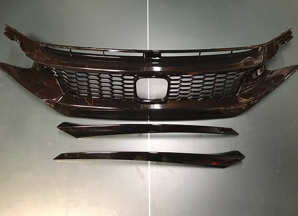 Civic 2016-2017 JDM Type R Front Hood Honeycomb Mesh Grill Grille