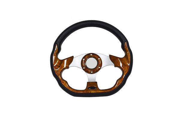 Universal PU Wood Style Steering Wheel 320mm Off Road / Marine / Golf Cart 8937
