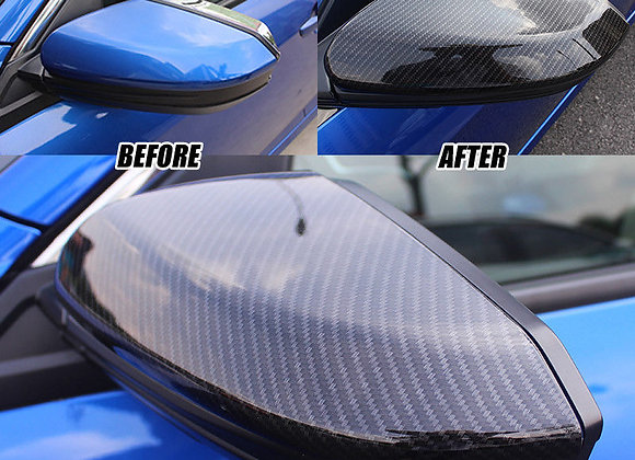 Civic 2016-19 4/5dr Carbon Fiber Style Side Mirror Cover & Door Handle Cover