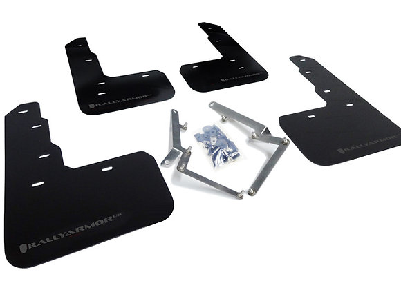 RALLY ARMOR MUD FLAP: CIVIC TYPE R 17-18 (UR BLACK W/DARK GREY LOGO)