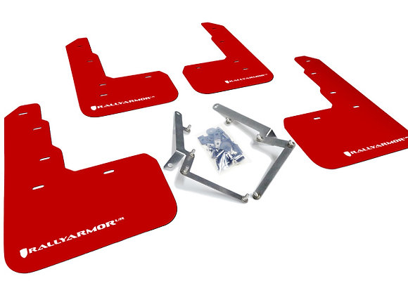 RALLY ARMOR MUD FLAP: CIVIC TYPE R 17-18 (UR RED W/WHITE LOGO)