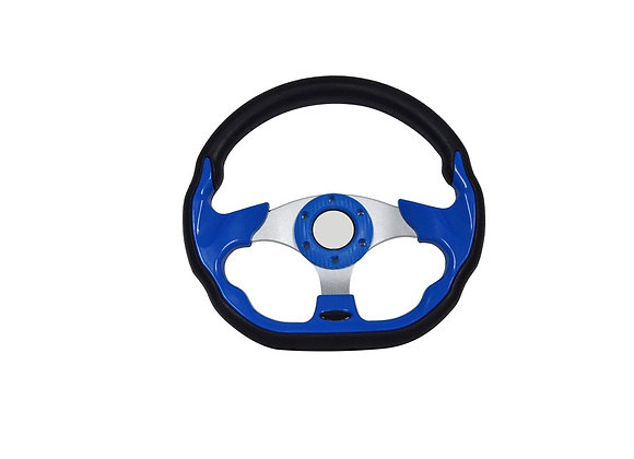 Universal PU Blue Steering Wheel 320mm Off Road / Marine / Golf Cart 8937