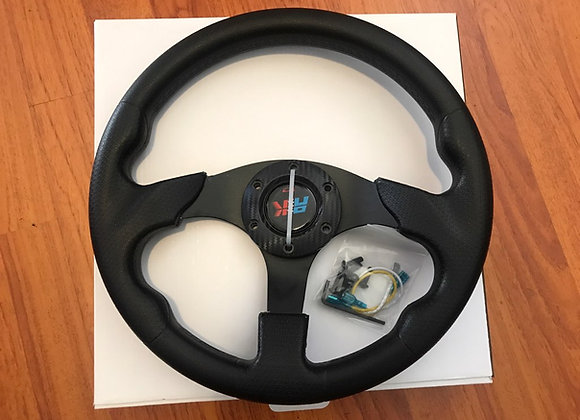 Universal PU Black Steering Wheel 320mm Off Road / Marine / Golf Cart 8907