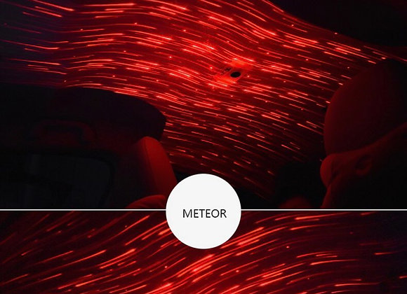 Car Ceiling Star Light LED Atmosphere Projector Meteor Lamp Red USB
