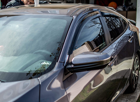Speedzone Window Visor Honda Civic 16 17 18 19 20 4dr