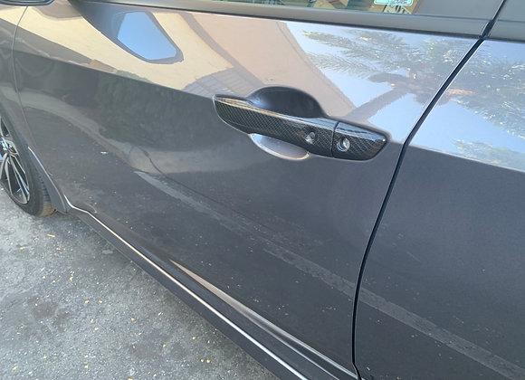 Civic 10th Gen 2016-19 Carbon Fiber Style Door Handle Cover